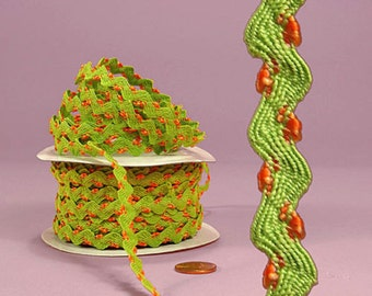 "1/4""Lissy Ric Rac Trim-Apple Green-price for 5 yards"