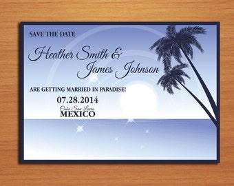 Aloha Beach Destination Wedding Save the Date PRINTABLE / DIY