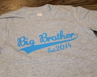 BIG BROTHER tshirt - Kid's personalized YEAR basic T shirt