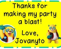Custom Special Agent Oso Birthday Thank You Favor Tags