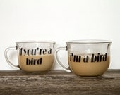 Romantic diy Valentine Gift If You're a Bird I'm a Bird Vinyl Chalkboard Decal Labels quote Sweetheart for diy Coffee Mug