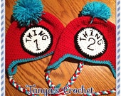 Thing one and Thing two hats
