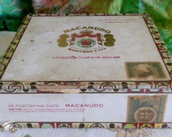 Macanudo Cigar Box in Fair Condition