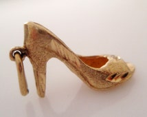 9ct Gold Shoe Charm or Pendant