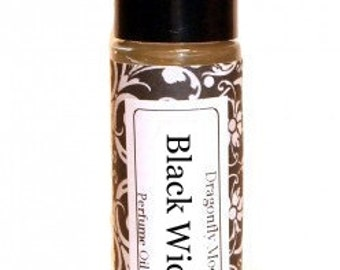 BLACK WIDOW - Roll on Premium Perfume Oil - 2 sizes to choose from - 1/3 oz or 1/6 oz - lilac, gardenia, carnation, hyacinth, rose