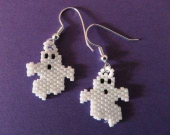 Small ghost earrings