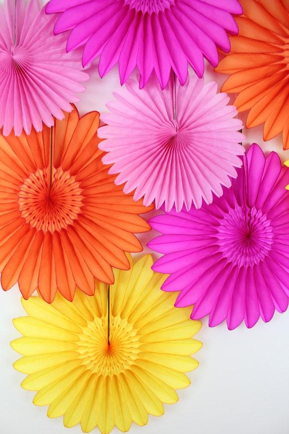 Wedding decorations tissue paper flower fans wedding decor bridal il570xn mightylinksfo