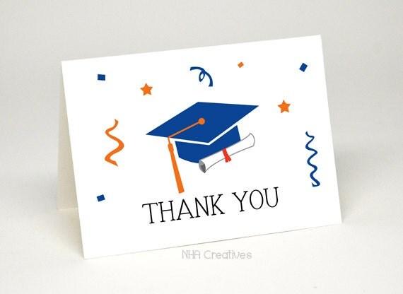 Graduation Thank You Cards: Thank You Graduation Card Graduation Cap And Diploma DIY