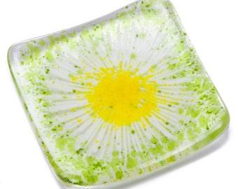 Daisy chain dish bowl fused glass daisies trinket teachers gifts presents present teacher wedding bride bridesmaid earrings gift