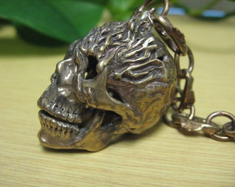 Flames Motorcycle Spirit Guardian Skull Bell.