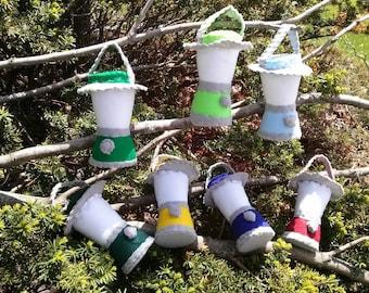 Children's Playtime Pretend Toy Felt Camping Lantern,  Canteen & Compass