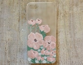 Soft Pink Floral iPhone 5 or 5s case