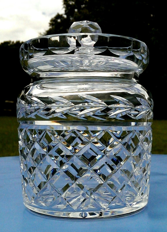 Large Waterford Crystal Jar With Lid