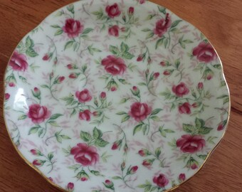 Vintage Lefton China Hand Painted Saucer
