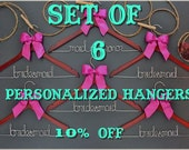 Set of 6 personalized hangers - perfect for bridal party