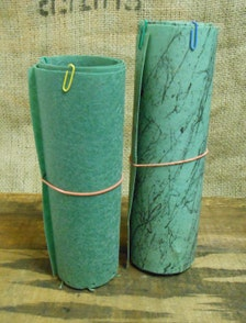 Vintage Two Pieces 4 Foot Lengths Fiberglass Lamp Shade
