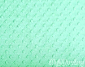 Minky fabric by the yard- opal minky dimple fabric- minky dot fabric