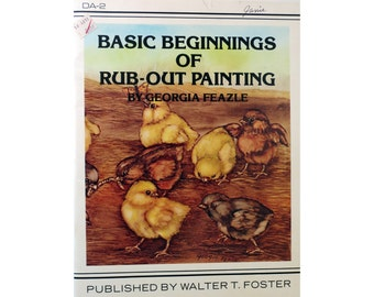 Rub Out Painting by Georgia Feazle Booklet Vintage