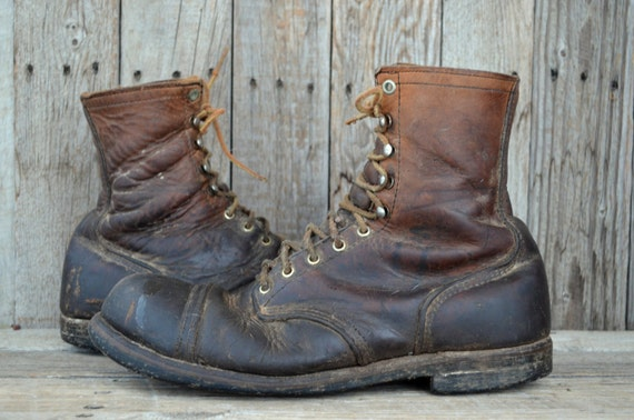 60's RED WING Iron Ranger Work Boots Mens 10.5