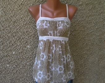 Vintage mesh tunic top, size M, on sale