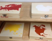 Montessori -  Continent Boxes  Only (All 7)