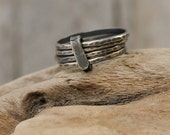 Boho Stacking Rings - Sterling Silver Stacking Rings - Thin Silver Hippie Stackable Rings