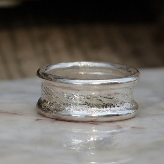 Mens Wedding Ring - Wedding Band - Sterling Silver Promise Ring for Him - Mens Single Band