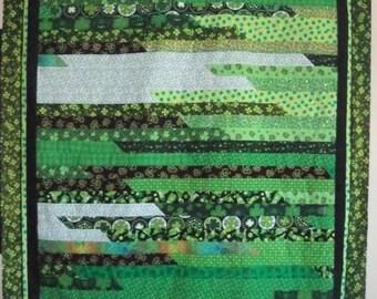St. Patrick's Strip Quilt Top