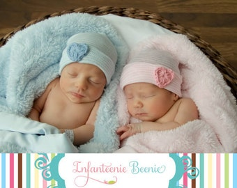 Newborn Black Baby Twins Baby hat- newborn hat- twin