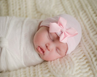 newborn hat, newborn hospital hat, newborn girl hat, newborn girl, ready to ship