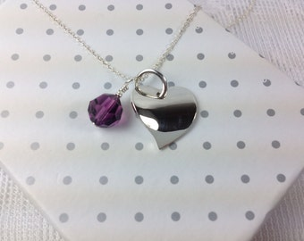I'm Yours : Sterling Silver Heart Shape Pendent with Swarovski Charm
