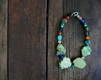 Handmade Chunky Statement necklace Wedding Sundance style jewelry