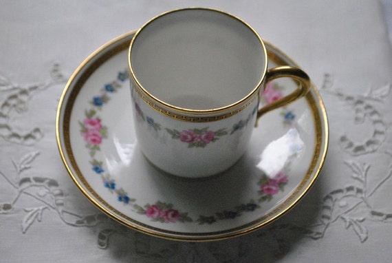 antike Porzellan, Demi Tasse tassen, Limoges Porzellan Tassen ...