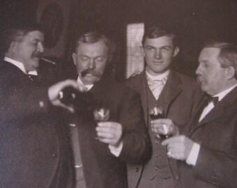 Gentlemen Having a Drink Cabinet Card Photo