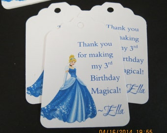 Personalized Cinderella Favor/Gift Tags