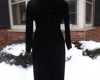 Vintage Nina Ricci Boutique Black Velvet Formal Dress/Nina Ricci Boutique/Black Velvet Dress/Bonwit Teller