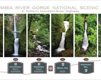 Oregon Water Falls Print 10x20