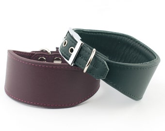 Whippet Soft Leather Collar - 22 Colours Available