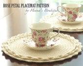 Crochet Placemat Pattern - Rose Petal Placemats - PDF
