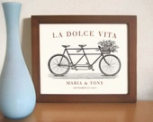 Unique Engagement Gift Italian Wedding Decor Unique Wedding Gift Idea La Dolce Vita Bicycle for Two Bridal Shower Tandem Bicycle
