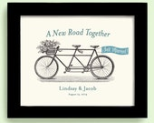 Unique Engagement Gift 11x14 Anniversary Gift  Unique Wedding Gift  Just Married Gift  Bicycle for Two Bike lovers