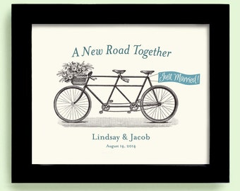 Unique Engagement Gift - Anniversary Gift - Unique Wedding Gift -  Just Married Gift - Bicycle for Two