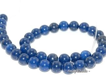 10mm Lapis Blue Jade Gemstone Blue Round 10mm Loose Beads 14 inch Full Strand (90112988-435)