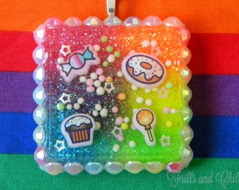 Sugar Rush Sweets Resin Necklace