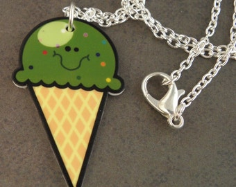 KAWAII Zombie Ice Cream Necklace