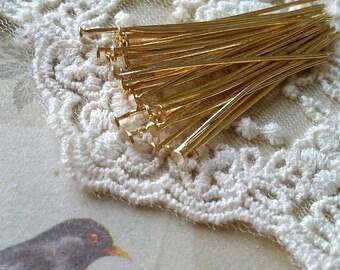 5.5 cm KC Gold Plated Head Pin Findings (.mtsg)