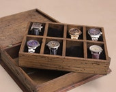New Personalized Rustic Men's Watch Box for 8 watches