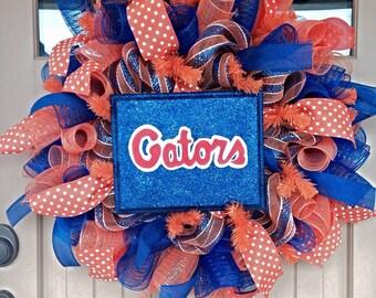 Florida Gators Wreath ~Florida Wreath ~Gators Wreath ~College Football Wreath