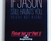 Friday the 13th Part 5 Movie Poster Fridge Magnet