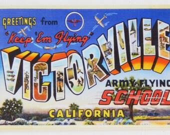 Greetings from Victorville California Fridge Magnet